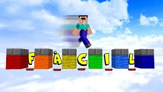 PARKOUR MAIS FÁCIL DO MUNDO INTEIRO (MINECRAFT)