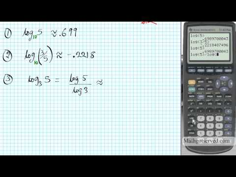 TI 83 Tutorial Entering Logarithms Evaluating and Graphing How to