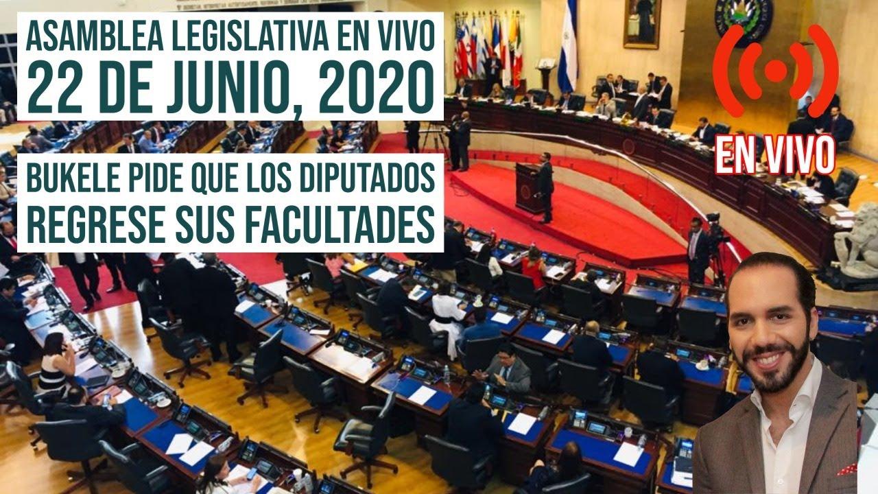 Asamblea Legislativa En Vivo - Petición del Presidente Que Regresen Sus Facultades