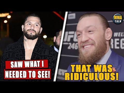 Jorge Masvidal BREAKS SILENCE on Conor McGregor vs Cerrone, Conor laughs off Masvidal's outfit