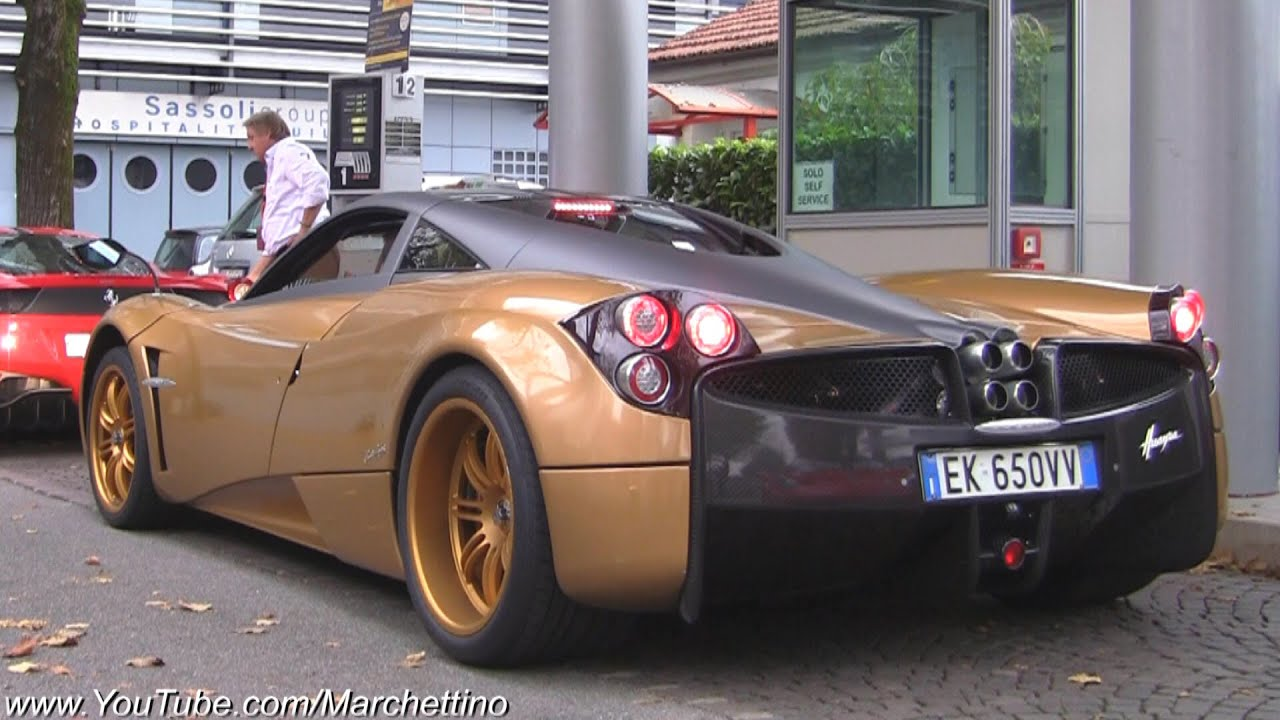 Pagani Huayra Stock vs Custom anium Exhaust Sound! - YouTube