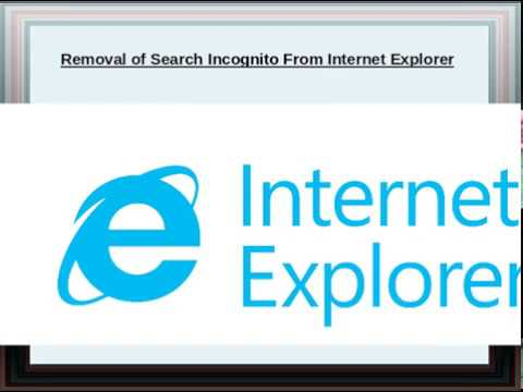 Incognito in ie
