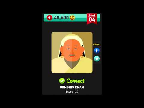 Icon Pop Quiz - Famous People - Level 1-7 Complete Answers Walkthrough