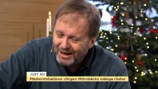 """Mästerimitatören Jörgen Mörnbäck: """"Därför är politiker kul att imitera"""" - Nyhetsmorgon (TV4)"""