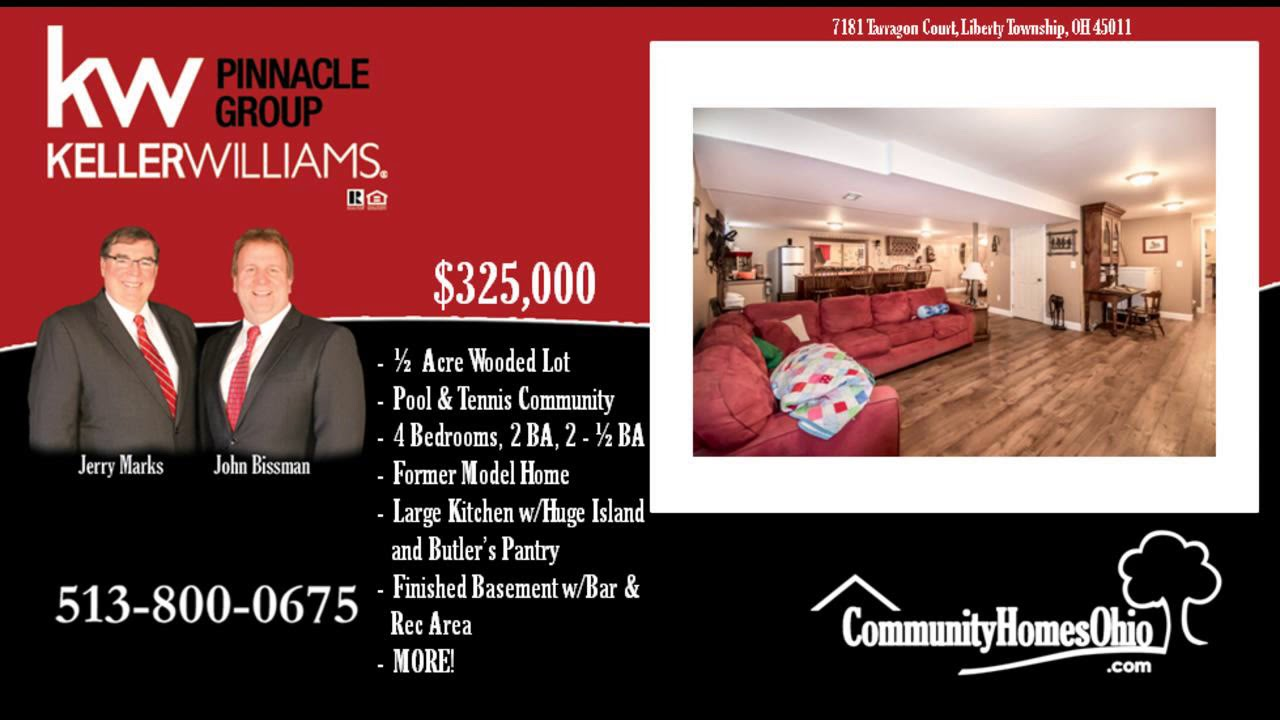 4 Bed Home for Sale with Wet Bar & Rec Room in Liberty Township, OH ...