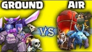 Let's see who win in COC (Ground troops vs Air troops)