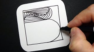 Letter B Spiral Drawing - Alphabet Series - Art Therapy - Satisfying Demo
