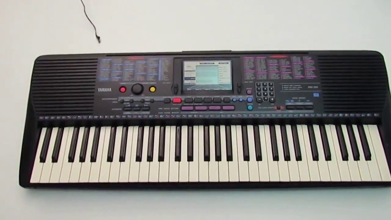 yamaha psr 220 portable electronic keyboard piano testing for sale ebay youtube. Black Bedroom Furniture Sets. Home Design Ideas