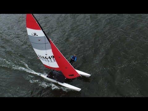 Madcatter regatta on Oneida lake celebrates Hobie's 50th (video)