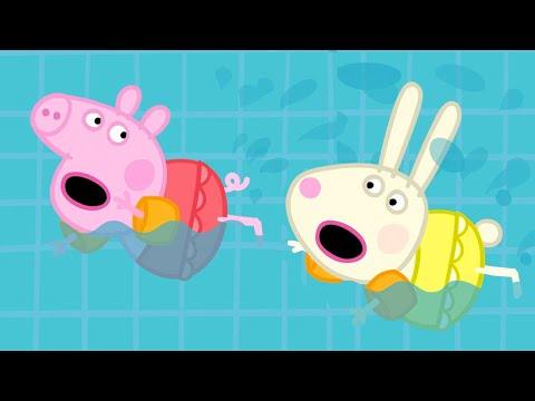 Peppa Pig Official Channel   Peppa Pig Goes Swimming with Rebecca Rabbit