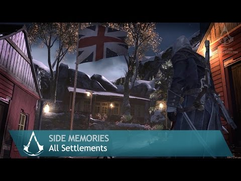 Assassin's Creed: Rogue - Side Memories - All Settlements
