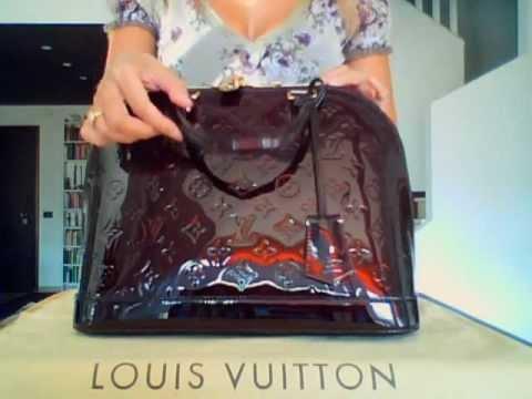 11d24f839cbb Review (ridiculos voice)  Authentic Alma PM (Icon) Vuitton in vernis  amarante