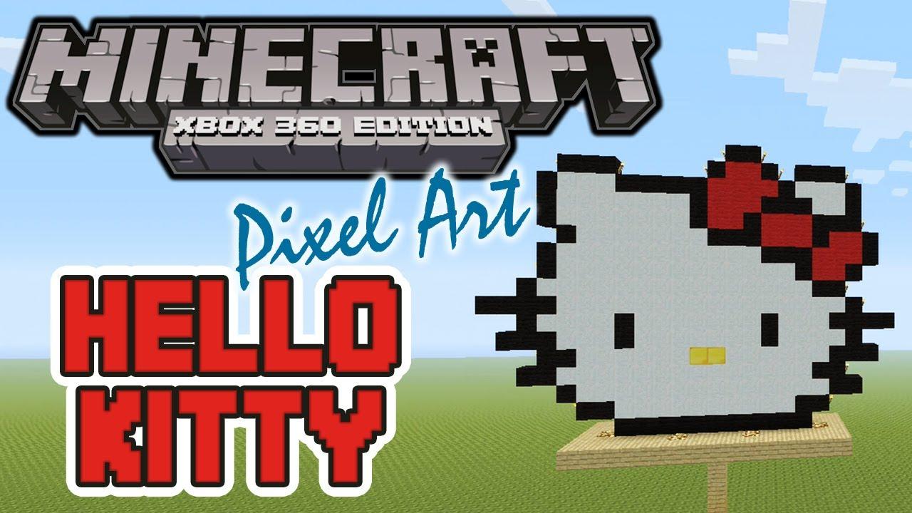 HELLO KITTY MINECRAFT PIXEL ART Gamers290
