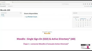 Moodle : Single Sign-On (SSO) & Active Directory® (AD) - Étape 1