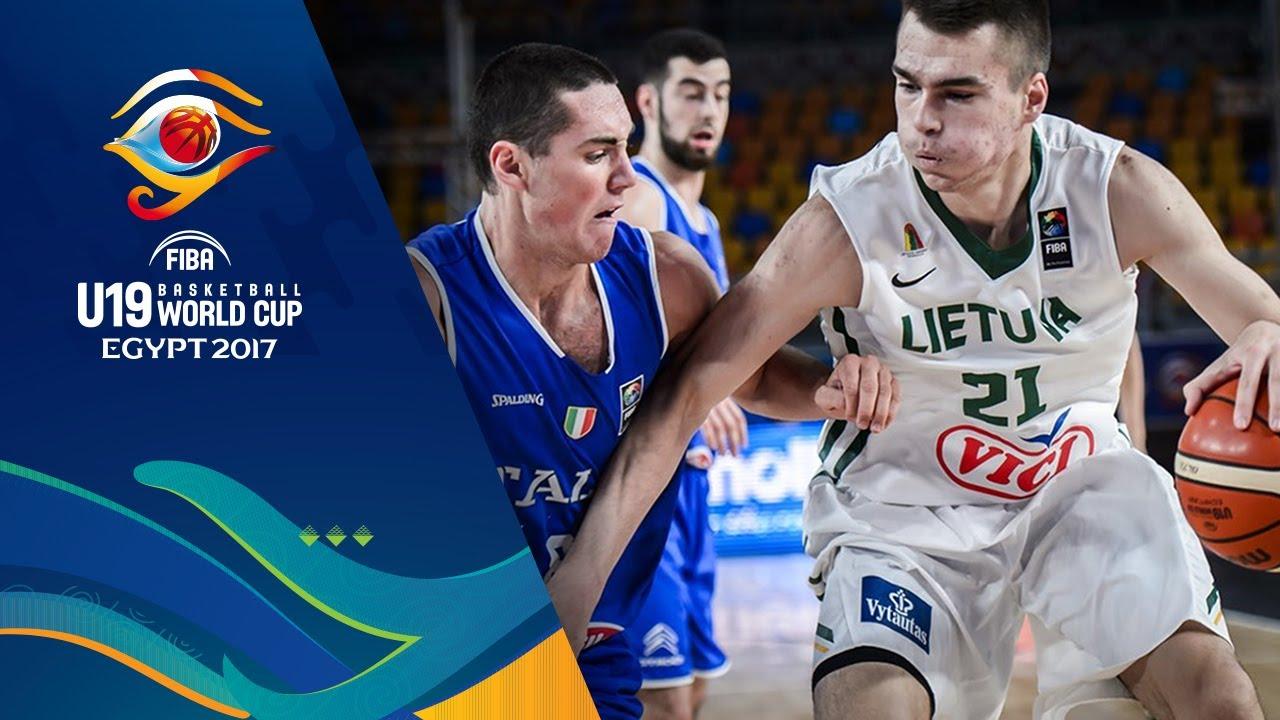 Lithuania v Italy - Full Game - Quarter-Final - FIBA U19 Basketball World Cup 2017