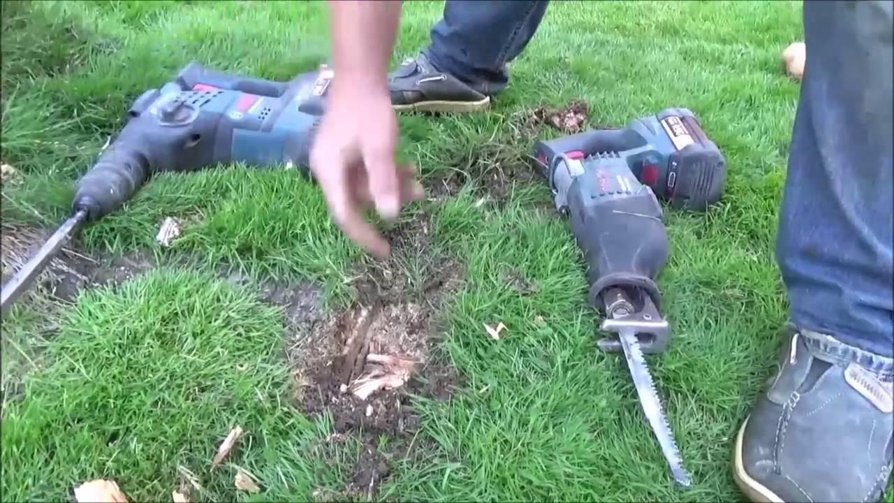 Teil 1 Baumstumpf Entfernen Youtube