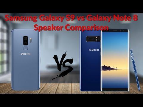 Samsung Galaxy S9 vs Galaxy Note 8 Speaker Comparison - YouTube Tech Guy