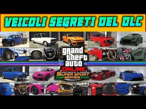 GTA 5 ITA DLC: SA SUPER SPORT SERIES - TUTTI I VEICOLI SEGRETI CHE USCIRANNO SU GTA ONLINE + PREZZI