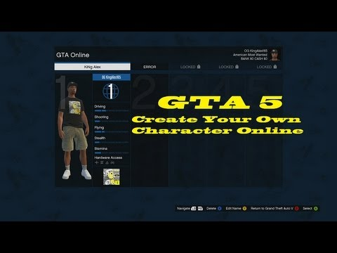GTA How To Create Your Own Character Online YouTube - Design your own character games