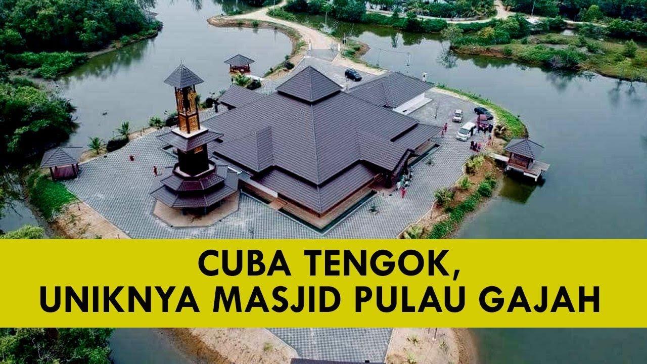 Viral Kelate Masjid Pulau Gajah Yang Unik Cantik Menawan Youtube