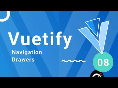 Vuetify Tutorial #8 - Navigation Drawers - YouTube