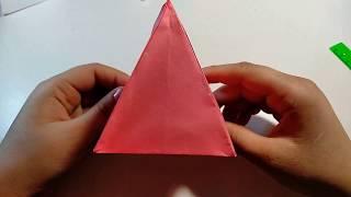 ОБЪЕМНЫЙ 3D ТРЕУГОЛЬНИК ИЗ БУМАГИ Paper Pyramid Easy Tutorial - How to make an Origami 3D Pyramid