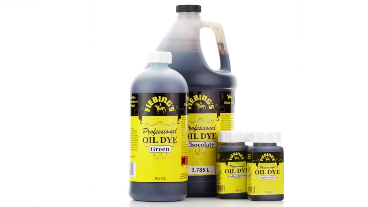 f24181ea79e7f4 Fiebing s Prof. Oil Dye - Lederfarbe auf Öl   Alkoholbasis - YouTube