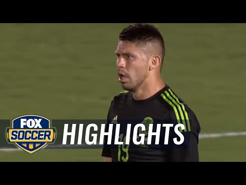 Tempers flare during USA vs. Mexico after Peralta, Guzan collide | 2015 CONCACAF Cup Highlights