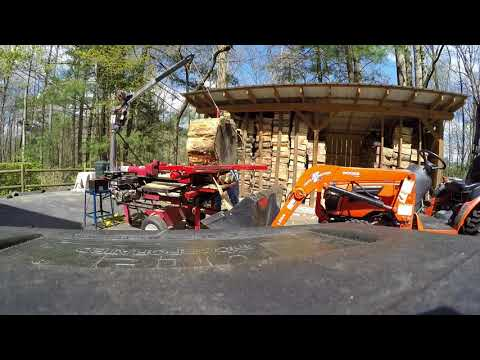Homemade Box-Wedge Log Splitter with Electric Crane