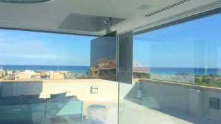 Tv ceiling lift hinge and telescope swivel, hidden tv - Flip 900R - test in Valencia