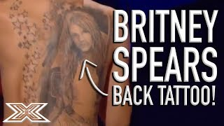 Britney Spears SUPERFAN Shows Off His Tattoo...While Singing