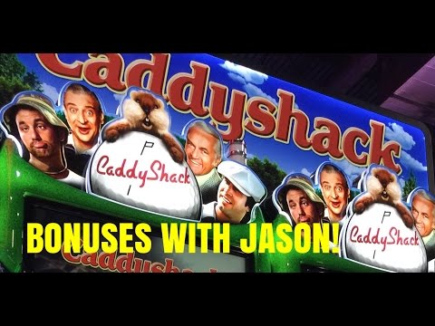 CADDYSHACK SLOT MACHINE-MAX BET-BONUSES WITH JASON!