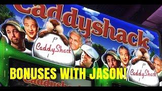 CADDYSHACK SLOT MACHINE-MAX BET-BONUSES WITH JASON!