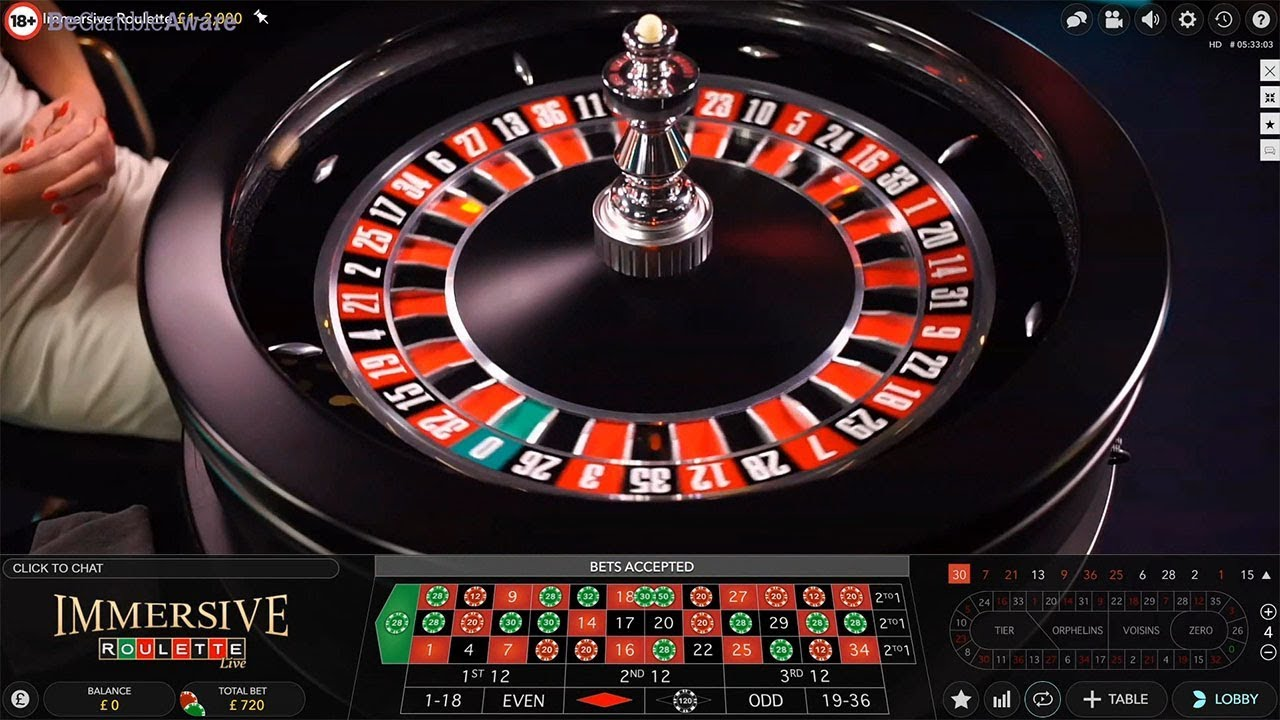 Play Live Online Immersive Roulette By Evolution Gaming