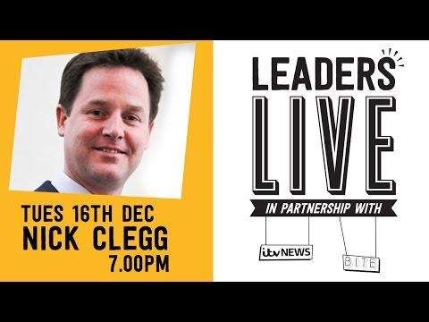 Nick Clegg (Liberal Democrats) - Leaders Live