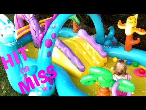 INTEX DINOLAND INFLATABLE PLAY CENTER POOL | REVIEW / FIRST IMPRESSION