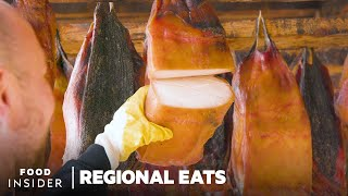 How Icelandic Fermented Shark Is Made | Regional Eats