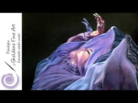 TIMELAPSE || Woman under water drawing - Mi-Tientes Tex paper and Polychromos pencils