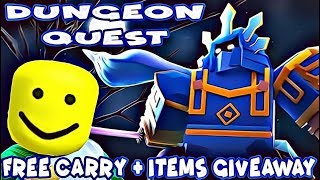 🔴DUNGEON QUEST W/ MINECRAFT STEVE - ITEMS GIVEAWAY TO A SUBSCRIBERS (ROBLOX)