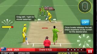 Gameloft All Star Cricket Batting/Bowling gameplay