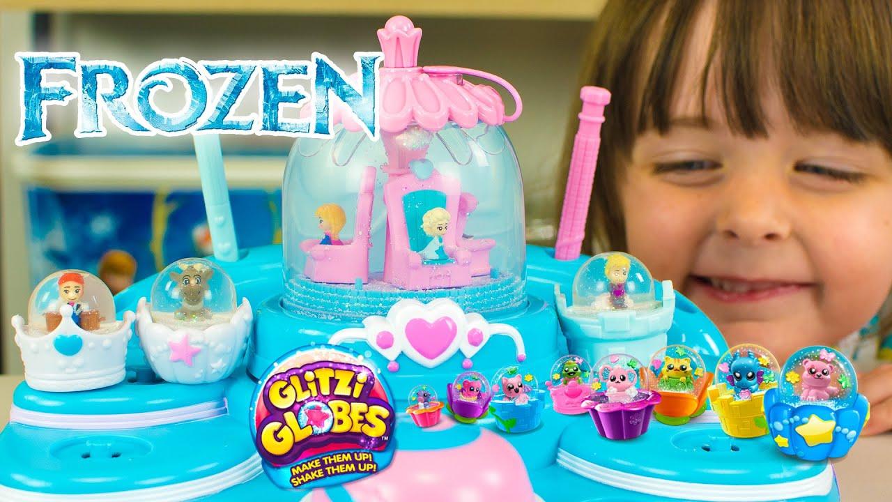 Disney Frozen Toys Elsas Ballroom Glitzi Globes Playset Queen Elsa