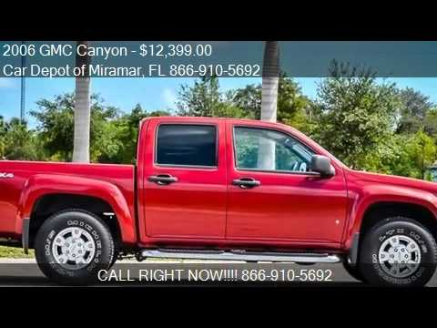2006 gmc canyon sle 4dr crew cab 4wd sb for sale in miramar youtube. Black Bedroom Furniture Sets. Home Design Ideas