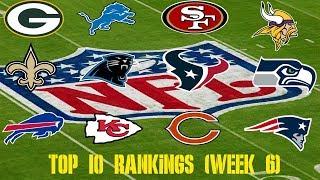 NFL Top 10 Rankings (Week 6)