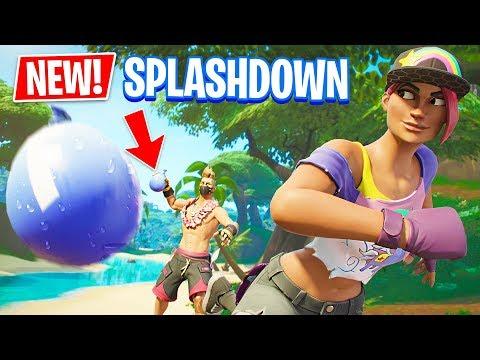 NEW Splashdown LTM In Fortnite Battle Royale!! (WATER BALLOON FIGHT)