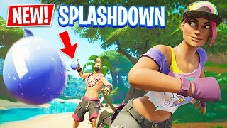 NEW Splashdown LTM in Fortnite Battle Royale!! (WATER BALLOON FIGHT)