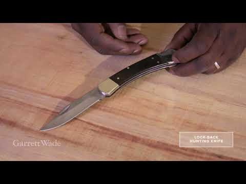 Lock Back Hunting Knife Garrett Wade