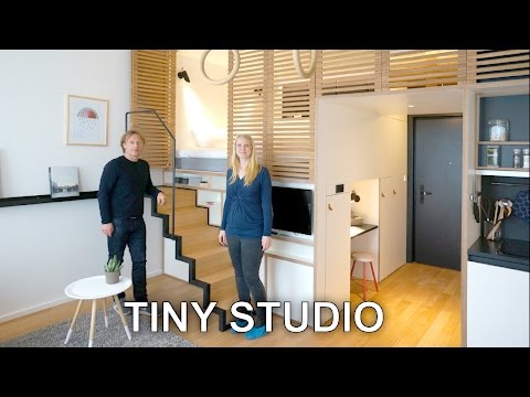Tiny Studio Apartment - Sleeping Loft and Moving Staircase (