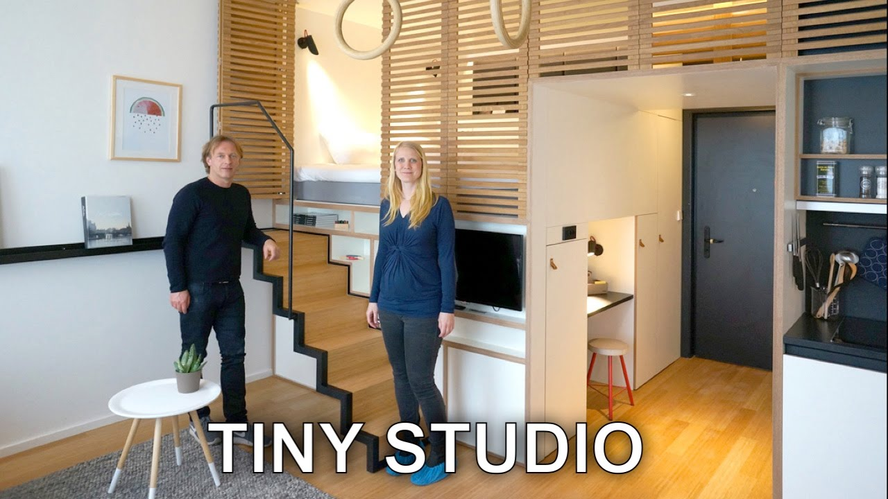 Perfect Tiny Studio Apartment   Sleeping Loft And Moving Staircase (Zoku)   YouTube