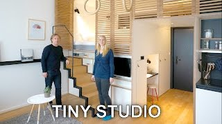 Tiny Studio Apartment - Sleeping Loft And Moving Staircase  Zoku