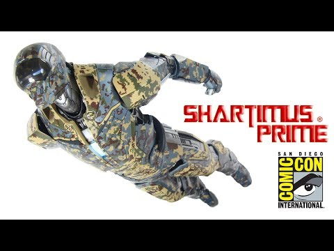 Hot Toys Shades Extreme Heat Suit Iron Man 3 Mark 23 SDCC 2017 1:6 Scale Movie Action Figure Review
